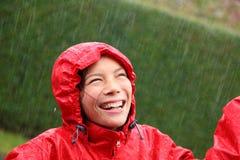 Rain woman Royalty Free Stock Photos