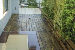 Rain on the wooden. Rain, wet wood floors Stock Image