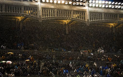 Rain at Yankee Stadium Gm 2 ALCS Stock Image