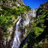 Rainbo waterfall. Valea rea Moldoveanu stock image