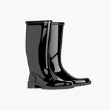 Rainboots. Vector illustration eps.10.  Stock Photography