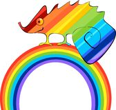 Rainbow Сhameleon Royalty Free Stock Photo