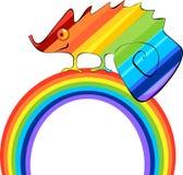 Rainbow Сhameleon Royalty Free Stock Photo