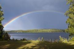 Rainbow. A shiny rainbow after a summerrain Royalty Free Stock Photos