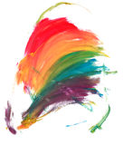 Rainbow. Painting in rainbow colours white background Stock Images