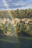 Rainbow. A clear rainbow on a fall day Royalty Free Stock Images