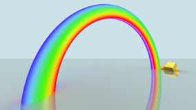 Rainbow. A rainbow with gold bars Royalty Free Stock Images