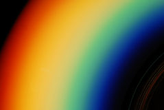 Rainbow. Reflection of light on a cd-r Royalty Free Stock Images