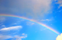 Rainbow. Colorful rainbow in blue sky Stock Images