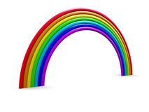 Rainbow. Abstract 3d illustration of rainbow over white background Stock Photography