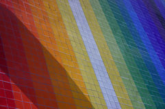 Rainbow. Colorful mosaic wall stock photos