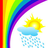 Rainbow. Background illustration with a rainbow Stock Image