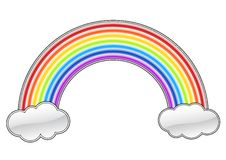 Rainbow. Plastic rainbow isolated on the white vector illustration