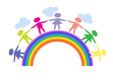 rainbow bridge stock illustrations u20ac 352 rainbow bridge stock rh dreamstime com  free rainbow bridge clipart