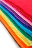Rainbow. Abstract background from a set of color fabrics Stock Photo