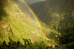 Rainbow. Above Valle gran rey (Teneriffe, Canarian isle Royalty Free Stock Photography
