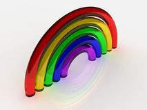 Rainbow. A 3d illustration of a rainbow made of glass tube Royalty Free Stock Photography