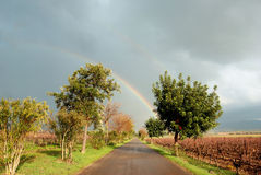 Rainbow. In a cloudy day of winter Royalty Free Stock Photography
