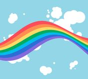 Rainbow. Abstract rainbow on cloud background Royalty Free Illustration