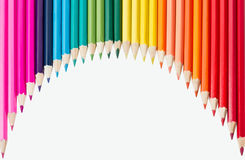 Rainbow. Most heavenly rainbow of colored pencils Stock Images