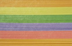 Rainbow. Pile of multi-coloured office paper for notes a kind with a side Royalty Free Stock Image