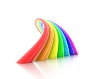 Rainbow. 3d rendering, objects over white royalty free illustration
