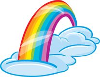 Rainbow. A brightly colored rainbow in the sky Stock Photos