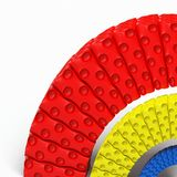 Rainbow. Plastic rainbow on white background royalty free illustration