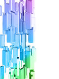 Rainbow 3d cubes with glossy light effects Stock Photography