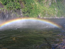 Rainbow. A rainbow at Milford Sound in New Zealand Stock Images