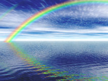 Rainbow. An illustration of a rendered rainbow Royalty Free Stock Photo