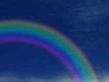 Rainbow. Nice rainbow arc against blue sky Royalty Free Stock Image