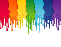 Rainbow. Vector illustration - rainbow paint border stock illustration