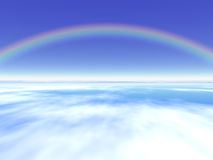 Rainbow. With cloud Royalty Free Stock Photos