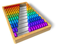 Rainbow abacus. Isolated over white background Stock Image