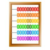 Rainbow abacus for financial calculations Royalty Free Stock Photo