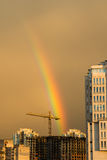Rainbow above the city Stock Images