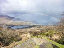 Rainbow above the famous Ladies View, Ring of Kerry Royalty Free Stock Photo