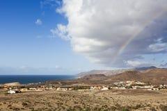 Rainbow above Fuerteventura Royalty Free Stock Photo