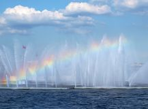 Rainbow above water Royalty Free Stock Images
