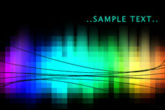 Rainbow abstract. Rainbow glow abstract background with black lines Stock Photo