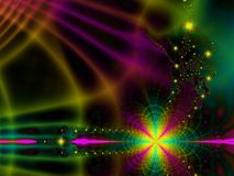 Rainbow Abstract. Fractal background pattern Royalty Free Stock Photos