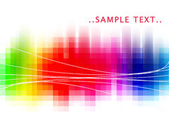 Rainbow abstract. Rainbow glow abstract background with white lines Stock Photography