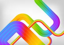 Rainbow Abstract Background. Abstract Background With Rainbow Lines Royalty Free Stock Photography