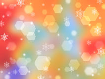 Rainbow abstract background with bokeh highlights Stock Images