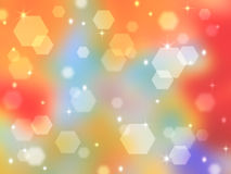 Rainbow abstract background with bokeh highlights. Bright and tender basis for design holiday cards or title Stock Photos
