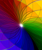 Rainbow abstract background composition Royalty Free Stock Image