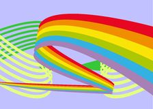 Rainbow on abstract background stock illustration