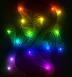 Rainbow abstract background with lines. Vector illustration Stock Photo