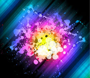 Rainbow Abstract Background for Modern Flyers Stock Photography